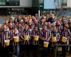 Exeter Chiefs v Gloucester bucket collectors